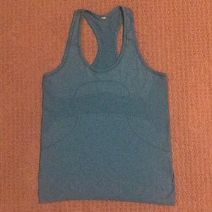 Lulu lemon blue swiftly tech tank top